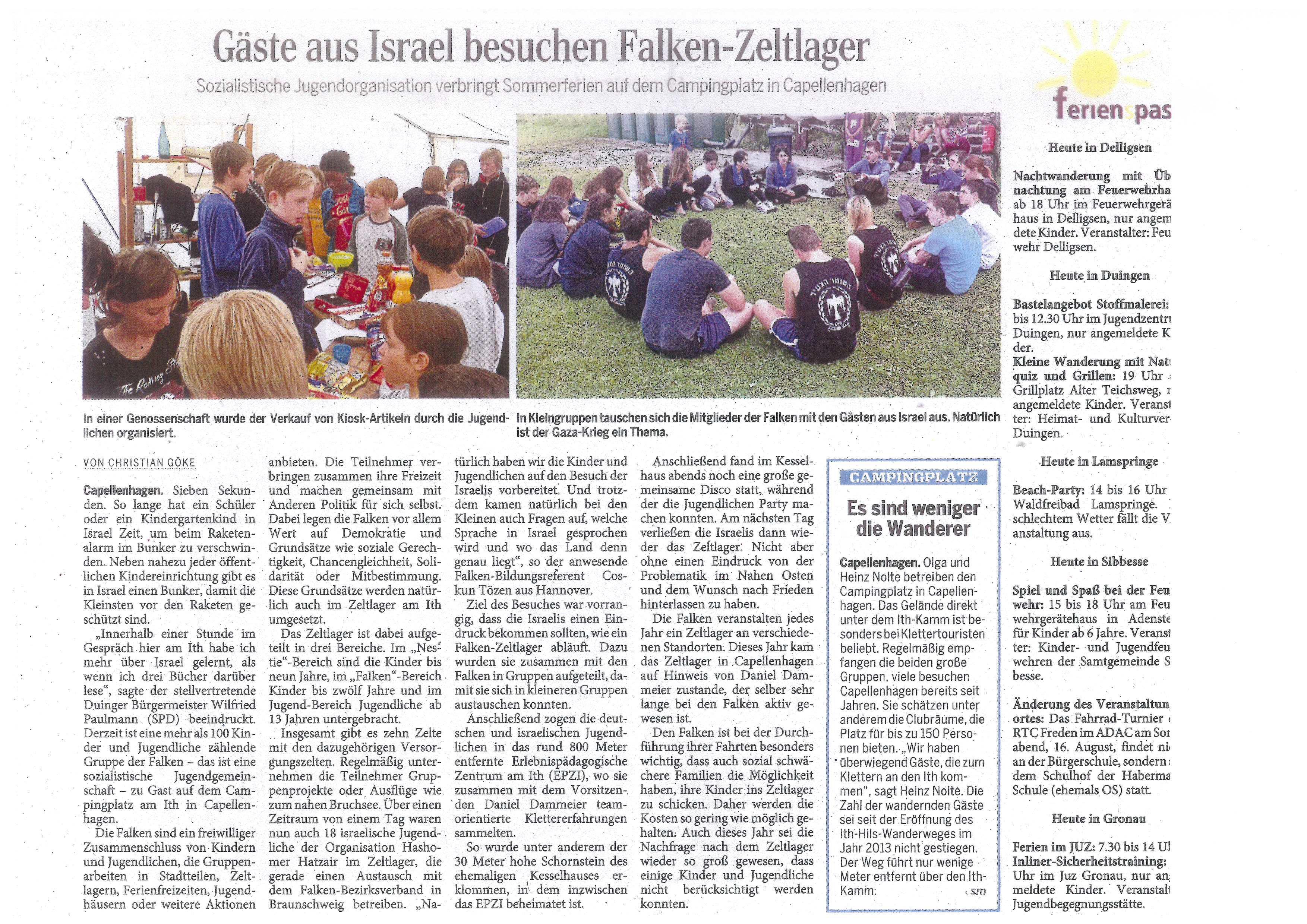 Alfelder Zeitung vom 15.08.2014